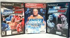 WWE Here Comes The Pain+Smackdown vs Raw 2006+2007 ps2 COMPLETE TESTED-WORKING