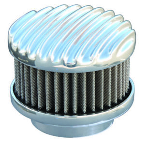 Polished Finned 2 Barrel Air Cleaner - Show Quality Aluminum 94, 97, & 98 Carbs