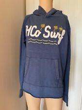 """Hollister Mens Blue Light Summer Hoodie Hoody Sweatshirt Large L Long Sleeve 22"""""""
