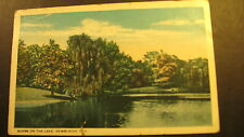 Scene on the Lake, Newburgh, N.Y.about 1920, used postcard