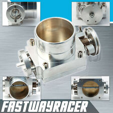 Universal Upgrade Aluminum Silver 80MM Throttle Body Intake Manifold 420A NEON