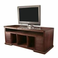 KraftNDecor Contemporary Wooden TV Stands in Brown Colour