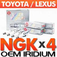 LASER IRIDIUM SPARK PLUGS x 4  |  OE NGK  | UPGRADE 100k  Improved Power/Mileage