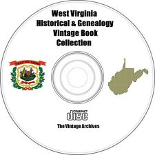 West Virginia Historical & Genealogy Vintage Book Collection on CD