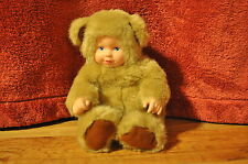~Absolutely Adorable~ Anne Geddes Baby Doll Plush dressed as a beige bear