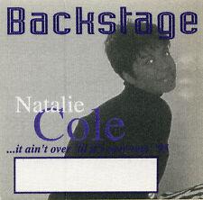 Natalie Cole 1995 Over Tour Backstage Pass! Authentic Original stage Perri #1