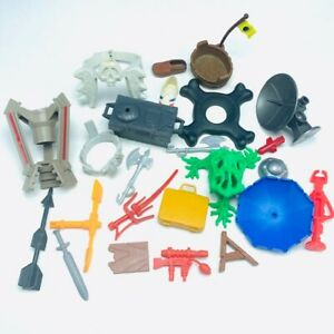 Action figure accessories weapons lot vtg gi joe he-man tri-pod warrior beast