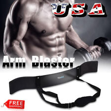 Arm Blaster Curl Body Building Bicep Support Heavy Duty Weightlifting Training