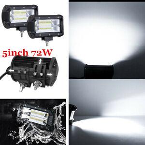 2x 5'' LED Work Light Bar Flood Lights Roof Driving Lamp Car Offroad SUV ATV