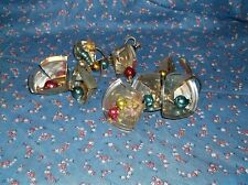 ksm. Home Crafted Christmas Bells Vintage Bells Can Lids Nice Sound Set of 2