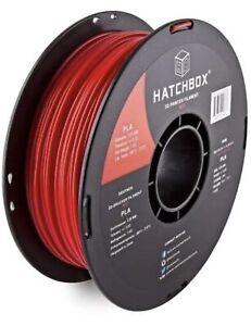 HATCHBOX PLA 1.75 mm 3D Printer Filament in true red, 1kg Spool