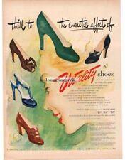 1948 VITALITY Shoes Women's Dress art by L & S McCULLOUGH Vintage Ad