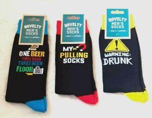 Mens Assorted Fun Novelty Socks Uk Size 7 - 11  New