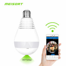 VR13D Wifi FishEye IP Camera LED Bulb Light Wireless 960P 360 Degree Ship Fm CA