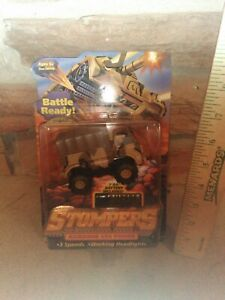 1997 Peachtree 4x4 Stompers troop carrier Tan Camo New/card Working Headlights