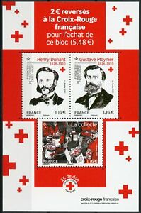 France Red Cross Stamps 2020 MNH Henry Dunant Medical Gustave Moynier 3v M/S