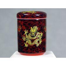 "Chinesische Teedose Porzellan ""Kämpfende Drachen"", kaiserrot, Keramik rot"