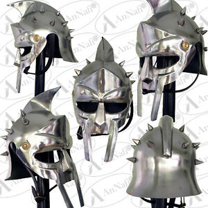 Gladiator Maximus Helmet New Medieval Armor-Helmet Knight Gladior Life Size New