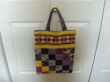 NEW HANDMADE - LARGE TOTE BAG - FULLY LINED - BONDERFUL COLORS !!!