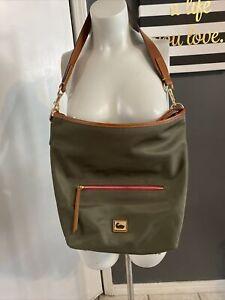 Dooney & Bourke Wayfarer Nylon Hobo Bag Olive & Matching Zip Pouch