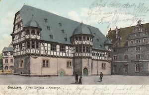 Giessen AK 1905 Kaserne und Schloss Hessen 2109107