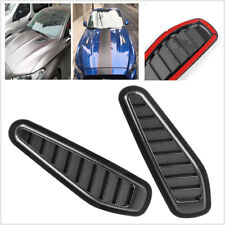 Carbon Fiber Look Car Air Flow Intake Scoop Turbo Bonnet Vent Cover Hood Durable