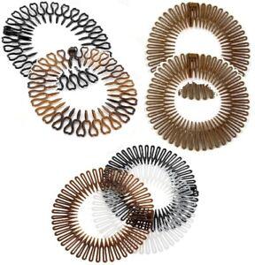 2 Black Brown Zig Zag Flexi Comb Sports Headband Hair Band Grip Accessories Gift