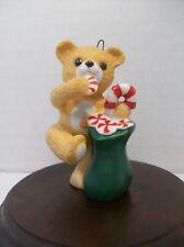 Hallmark Keepsake Ornament Cinnamon Bear 7 Collectors Series Fine Porcelain 1989