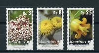 Mauritius 2016 MNH Indigenous Flowers Definitives 2016 R/P 3v Set Flora Stamps