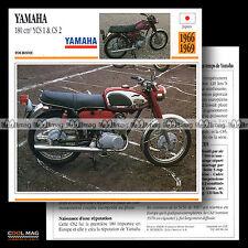 #086.04 YAMAHA 180 YCS 1 1966 / CS 2 1969 Fiche Moto Motorcycle Card