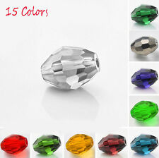 Wholesale 50Pcs Faceted Crystal Glass Loose Spacer Beads DIY Charm Finding