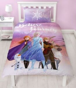 Official Disney Frozen 2 Journey Reversible Single Duvet Bedding Set Elsa Anna