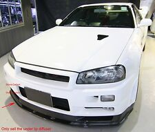 Carbon Fiber OE Style Front Lip Splitter Under Diffuser 1pc For Skyline R34 GTR