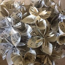 Handmade Origami Paper Wedding Flowers - Music