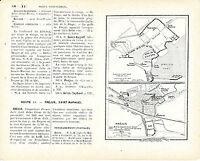 Fréjus 1920 pt. plan de ville orig. + guide (4 p.) Forum Julii Porte Dorée