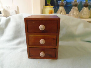 Vintage Small Apprentice Piece Three Drawer Cabinet