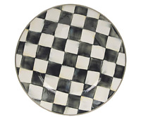 MacKenzie-Childs Enamelware Courtly Check Dinner Plate