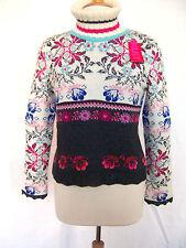 Langarm Damen-Pullover mit mittlerer Strickart aus Wollmischung ohne Verschluss