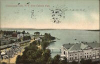 Chautauqua Lake NY From Celeron Park c1910 Postcard