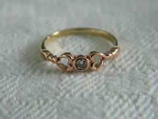 Clogau 9ct Welsh Gold Diamond Lovespoons Ring RRP £390.00 size J