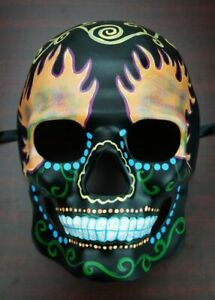 Ghost Rider Day Of The Dead Skull Halloween Costume Mask