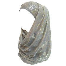 Gold Glitters Shimmer Women's Head Scarf Shawl Wrap Muslim Hijab