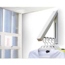 Household Wall Mounted Drying Rack Clothes Hanger Folding Coat Racks Hook Lj