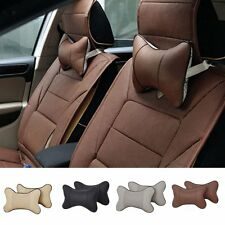 New Travel Car Auto Seat Head Neck Rest Leather Cushion Pad HeadRest Bone Pillow