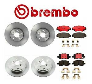 OEM Brembo Front+Rear Brake Rotors Brake Pads for Honda Pilot 03-08
