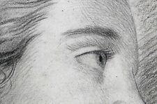 Portrait femme : Mine de plomb et fusain dans l'esprit de Jean-Baptiste GREUZE
