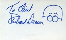 RICHARD DEACON of DICK VAN DYKE SHOW: Uncommon Autograph with Sketch