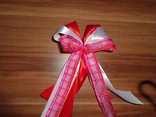große voluminöse Dekoschleife, rot weiß für Schultüte - Weihnachten - Geschenke
