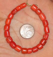 6mm Perles Corail Ancien Collier Maroc Antique Moroccan Berber Coral Beads