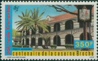 French Polynesia 1987 Sc#C224,SG506 350f Broche Army Barracks MNH